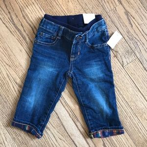 Baby Gap 1969 Jeans fully lined with plaid flannel